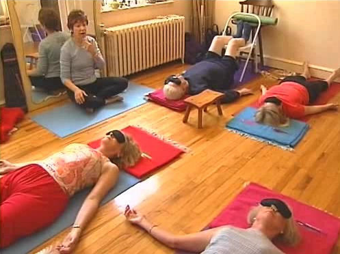 Students at Very Near Yoga